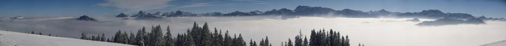 Panorama nach Osten zu den Tannheimer und Allgäuer Bergen